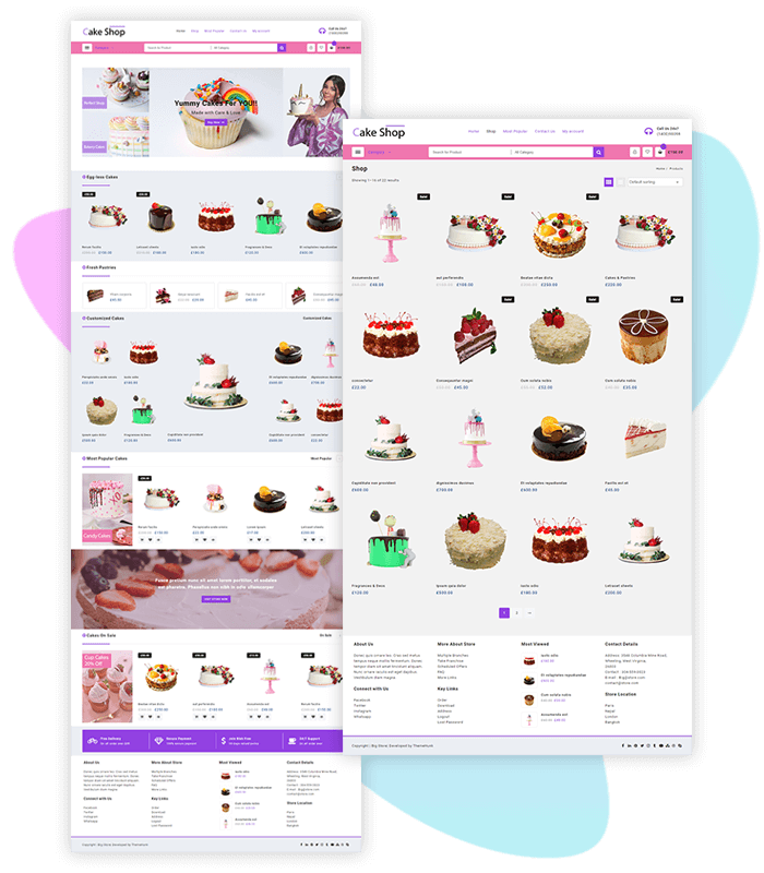 template-demo-page-one-click-cake-shop