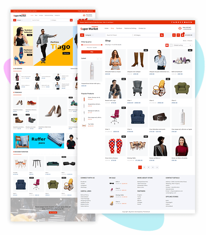 template-demo-page-one-click-supermarket