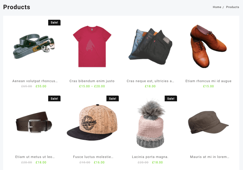 display products in woocommerce
