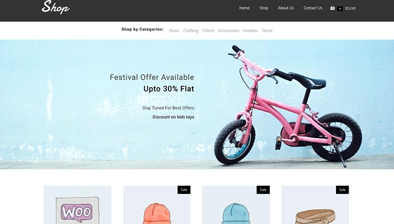 Online shop elementor template