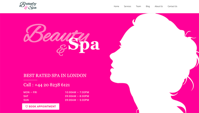 beauty and spa template