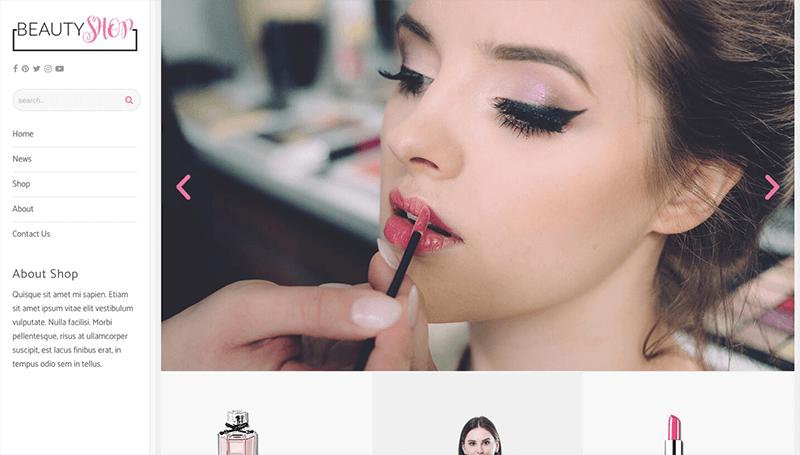 online beauty shop template
