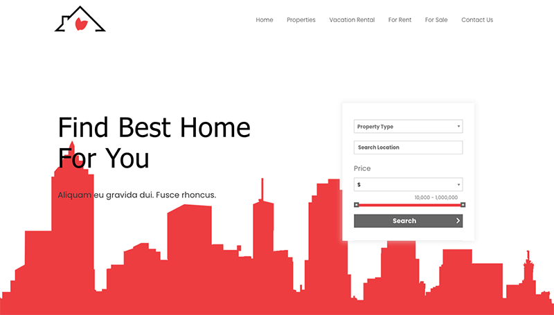best real estate template for elementor