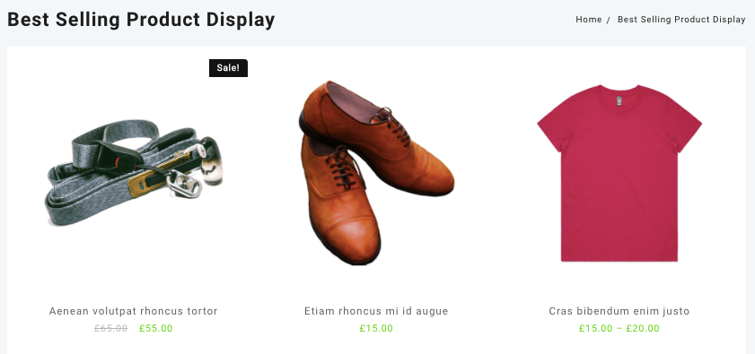 best selling product display shortcode for woocommerce