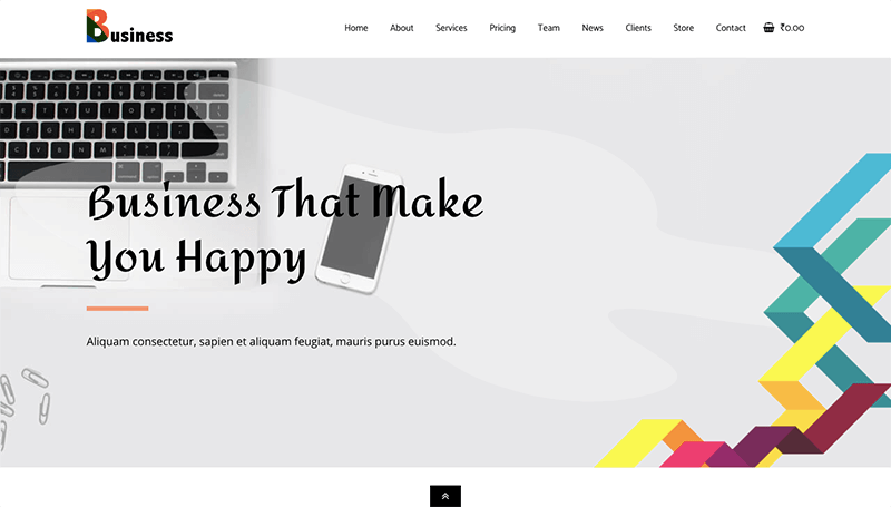 business landing page template for elementor