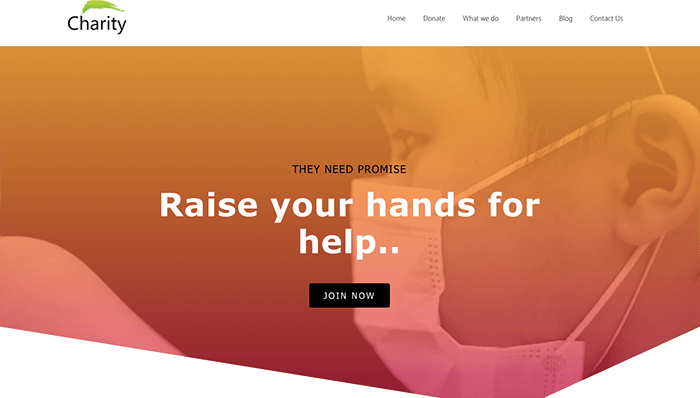 Charity Elementor template free