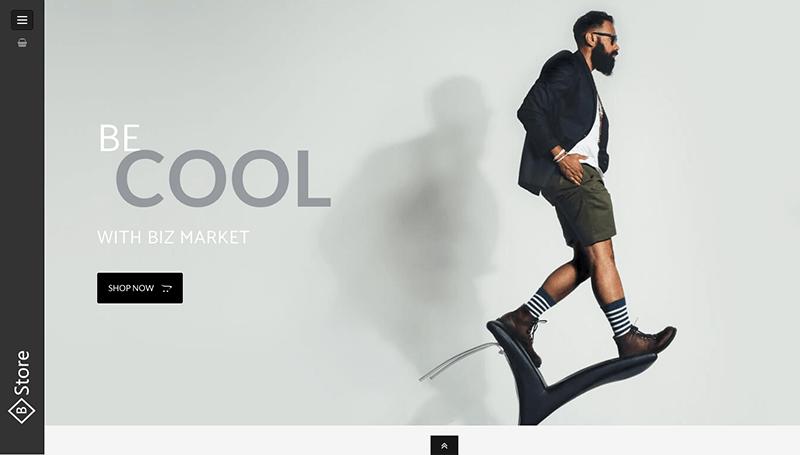 fashion shop elementor template