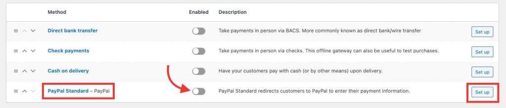 woocommerce paypal standard payment settings guide