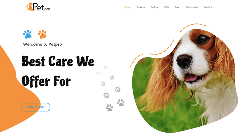Pet Template for Elementor page builder