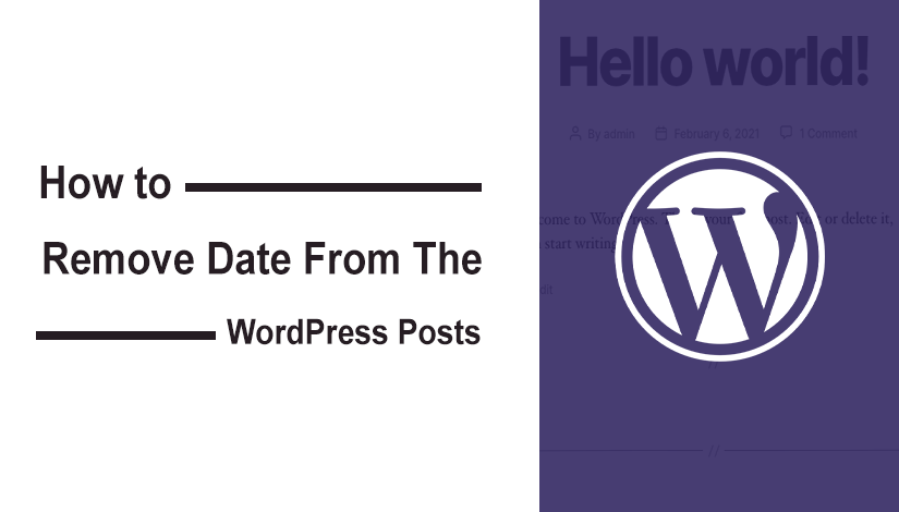 How to Remove Date from WordPress Posts