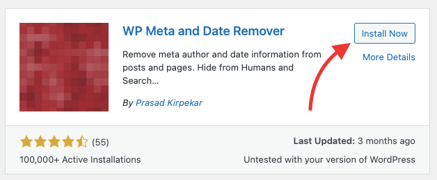 hide the date from wordpress posts by using meta remover plugin.