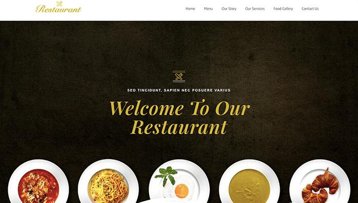 free Restaurant Elementor template