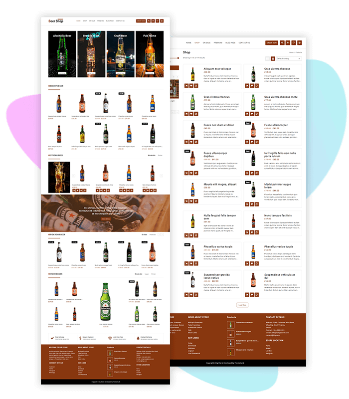 template-demo-page-one-click-beer-shop-big-store