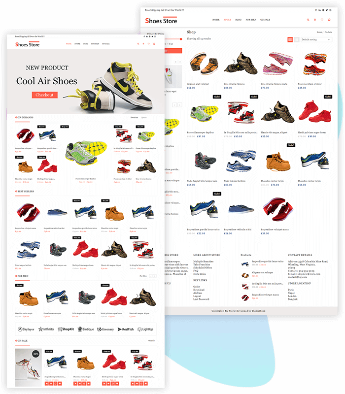 template-demo-page-one-click-shoes-store
