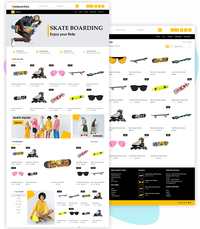 template-demo-page-one-click-skateboard