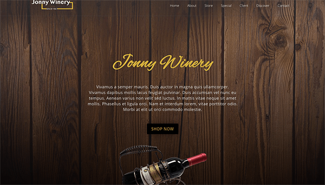wine elementor free template download