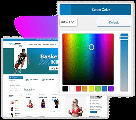 Color & Background Setting WordPress Theme
