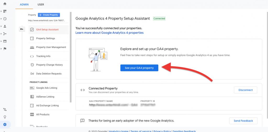 Setup Google Analytics 4