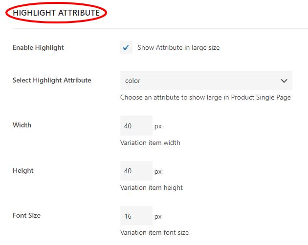 highlight attribute image