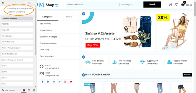 section-ordering-m-shop-pro