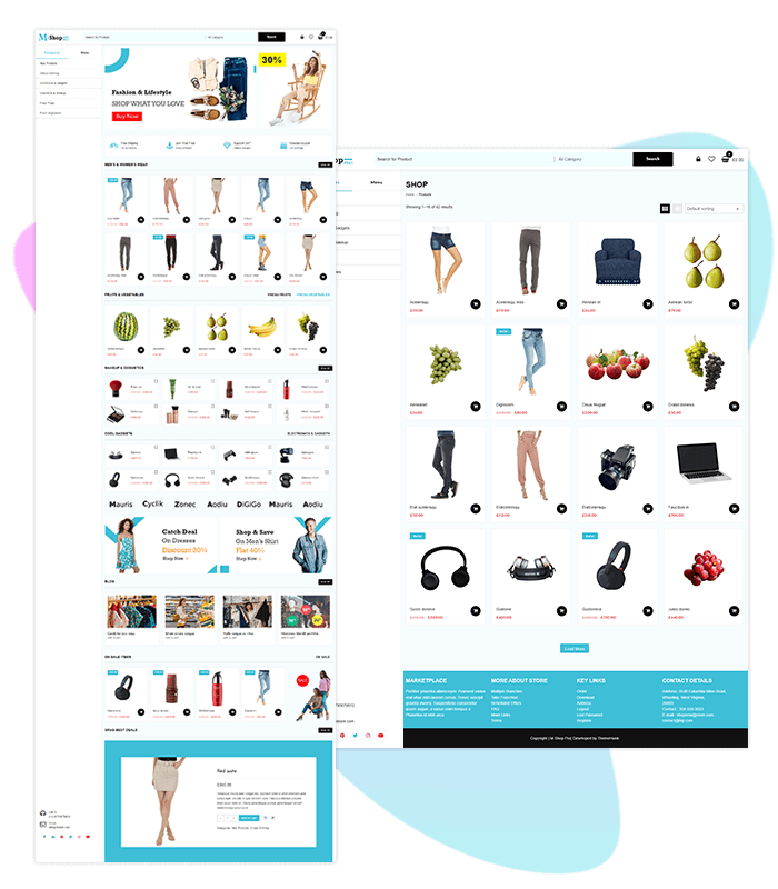 template-demo-page-one-click-m-shop-pro