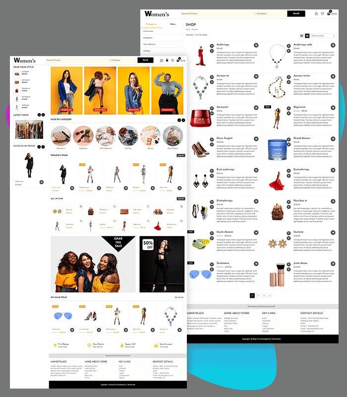 template-demo-page-one-click-women-fashion-shop-demo