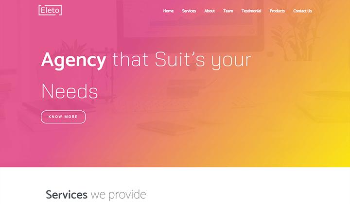 Online Agency Elementor Template