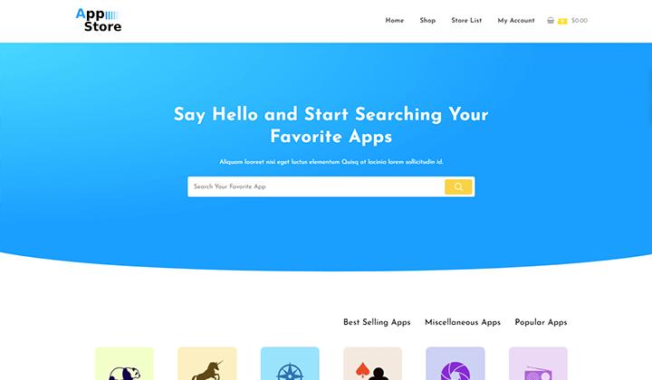 App Store Elementor Kit