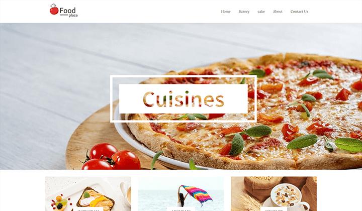 Elementor Food Blog Template Kit