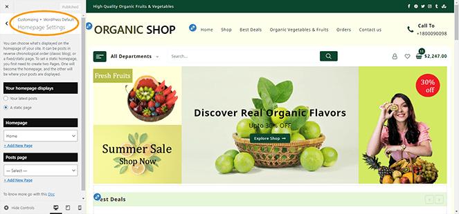 homepage-setting-jot-shop-pro