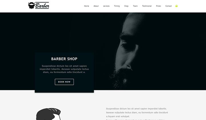 Barbar Shop Elementor Template Kit